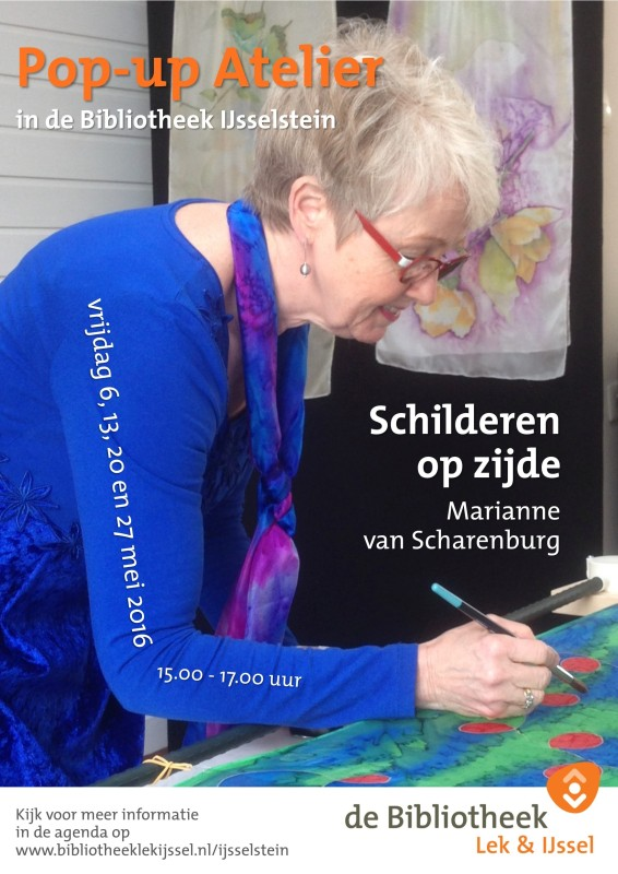 Affiche Pop-up Atelier Marianne van Scharenburg 05-2016