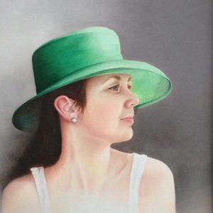 Meisje met de groene hoed. Niet te koop.